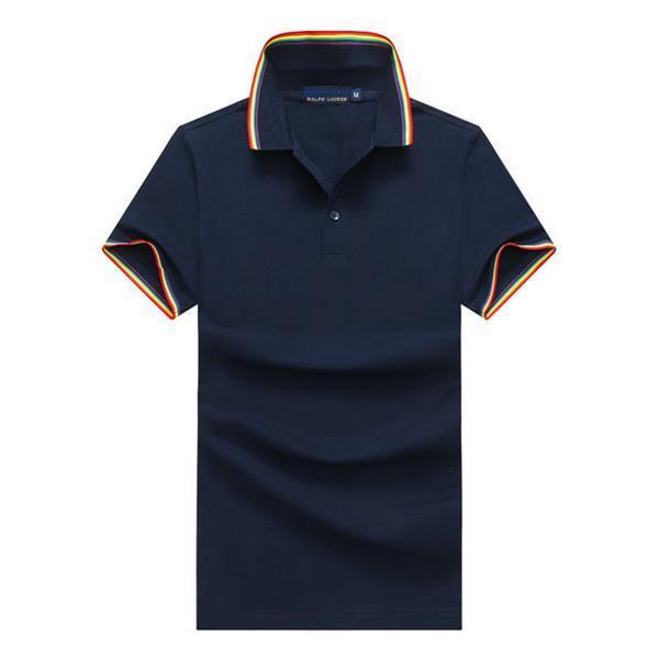 Spring Men's Polo Shirt Bee Bordado Italiano Top Tee Brand Polo Shirt Men's High Street Etiqueta de algodón Tee # 30