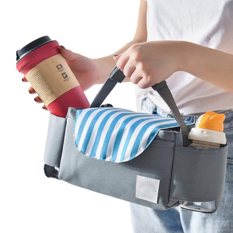 Pacchetti di ghiaccio / sacchetti isotermici Borsa per il pranzo per le donne Bambini Cooler Box Tote Canvas Isolamento Pacchetto Pacchetto Baby Passeggino Bottiglia Stoccaggio Appeso