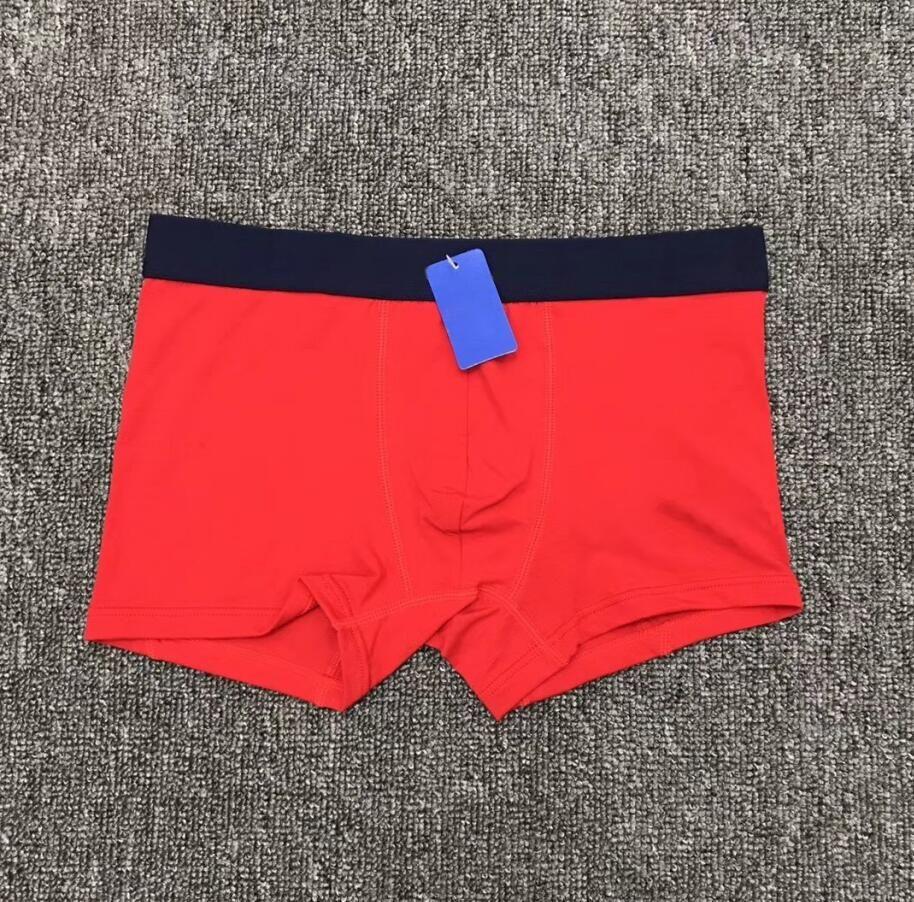 Manodance da uomo Sexy e respirabili Ante angolare piatta Biancheria intima traspirante in cotone 3 / scatola Pantaloncini di moda Alta qualità Comfort