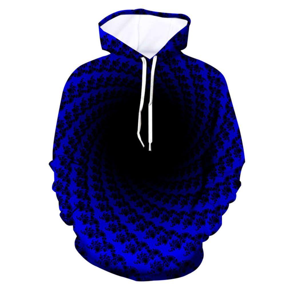 Yeni 3D Siyah Delik Vortex Dijital Baskı Moda Marka Kapüşonlu Kazak Tişörtü Hoodies Erkekler Için Baskı Erkek Eşofman Saray Streetwear