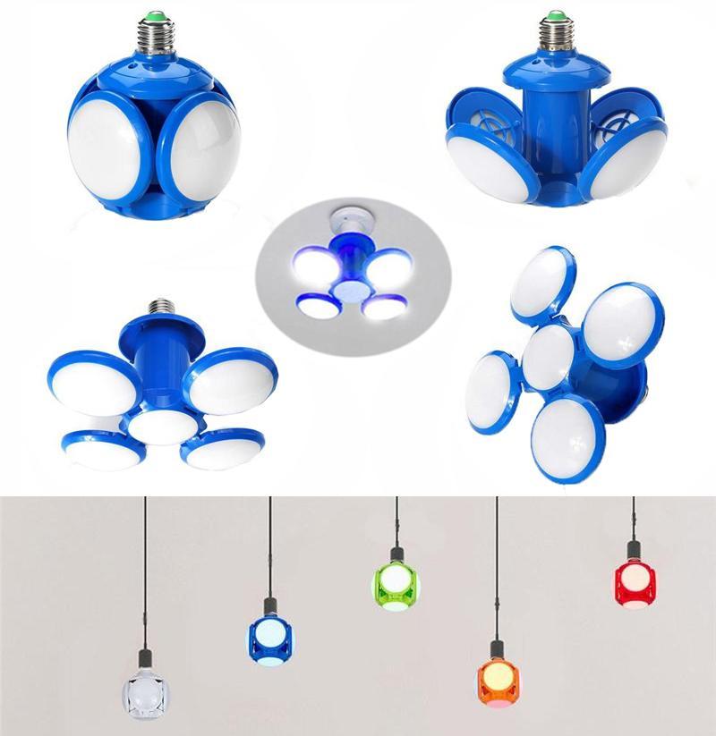 New 30W LED Folding Football Bulbs LED Light pendant ceiling folding lamp UFO soccer lamp E27 bulbs