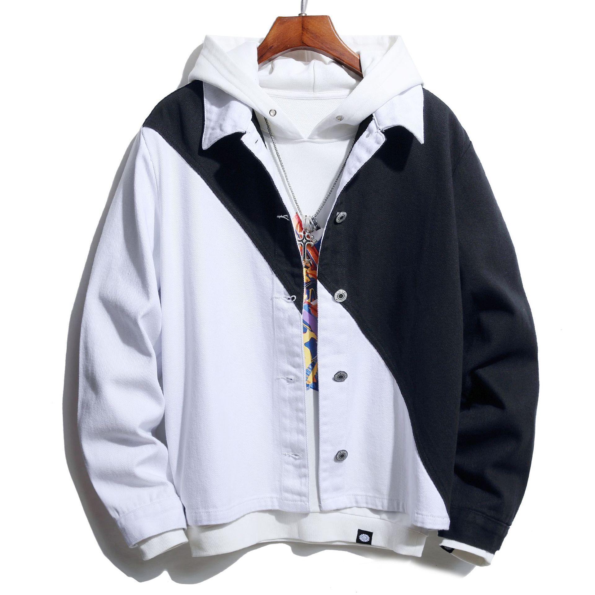 Nedensel Erkekler Ceketler Moda Spor Giyim Denim Vintage Mont Hip Hop Erkek Streetwear Erkek Bombacı Ceketler Boyutu S-3XL 0815 #