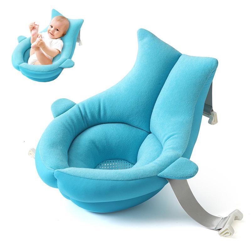 شخصية استحمام الطفل مع تفتح الأزهار، حمام للطي حديثي الولادة، سمك القرش على شكل وسادة، واصطف لوحة الحمام، حمام المحمولة، ومقعد لينة، 80CM