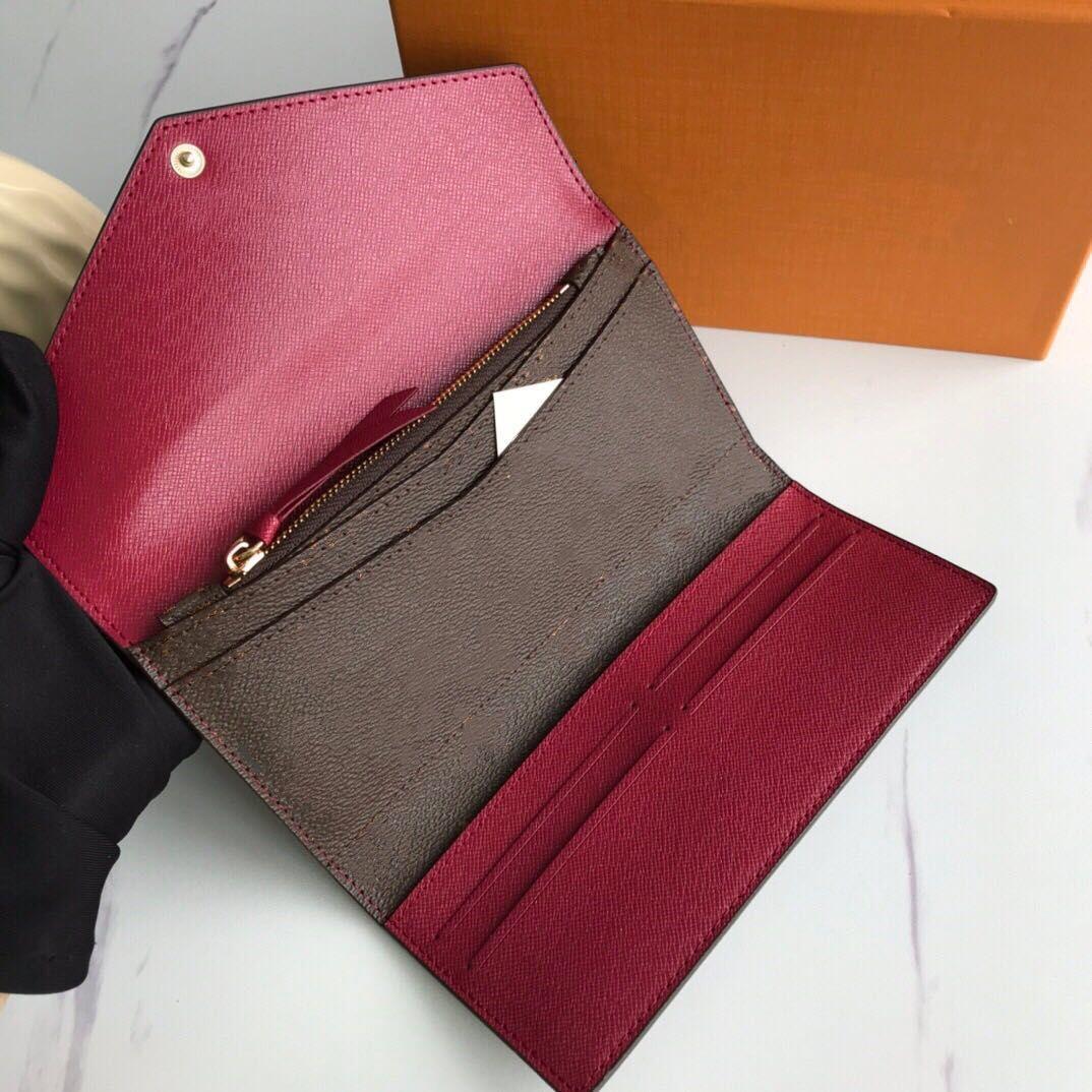 Portefeuille سارة المحفظة عالية الجودة المرأة الكلاسيكية المغلف نمط طويل محفظة محفظة بطاقة الائتمان مع هدية مربع M60708
