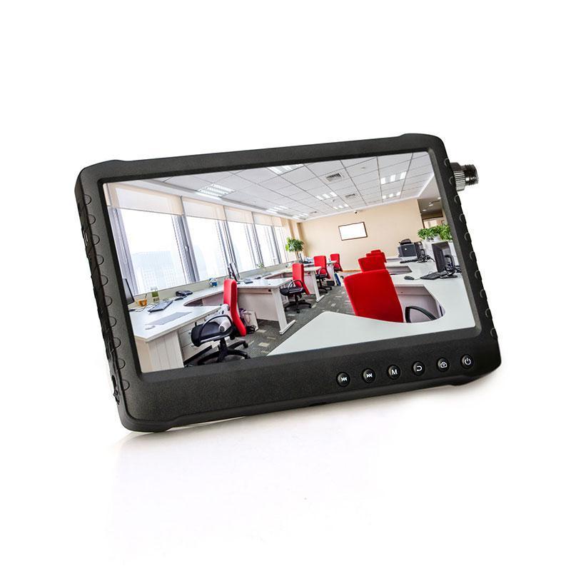 المحمولة 1080P 1024 * 600 7 بوصة IPS شاشة يدعم كاميرا CCTV الأمن الفاحص مراقب AHD / TVI / السيدا / CVBS
