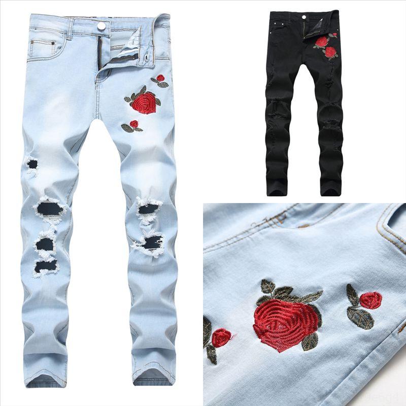2HVSZ Hot Jeans Patchwork Jeans Männer Neue Skinny Sale Mode Biker Denim Insgesamt Skinny Hose Beiläufige sexy La Up Jeans