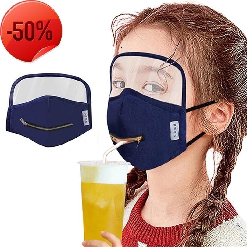 Mode waschbar winddicht und staubdichter Reißverschluss glänzender wiederverwendbarer Gesichtsmasken Mascaras de Cremallera Maskes ein Glissiere