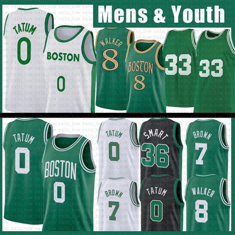 Kemba 8 Walker Jayson 0 Tatum NCAA 농구 유니폼 33 Jaylen 7 Brown 20 Hayward Marcus 36 Smart Youth Men Kids 2021 New Retro