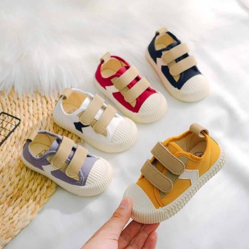 New Kids Shoes Crianças Meninos Flat Salto Lona Designer Sapatos Bebé Sapatos Sapatos Patchwork Crianças Sneakers Para Crianças C11273 201201
