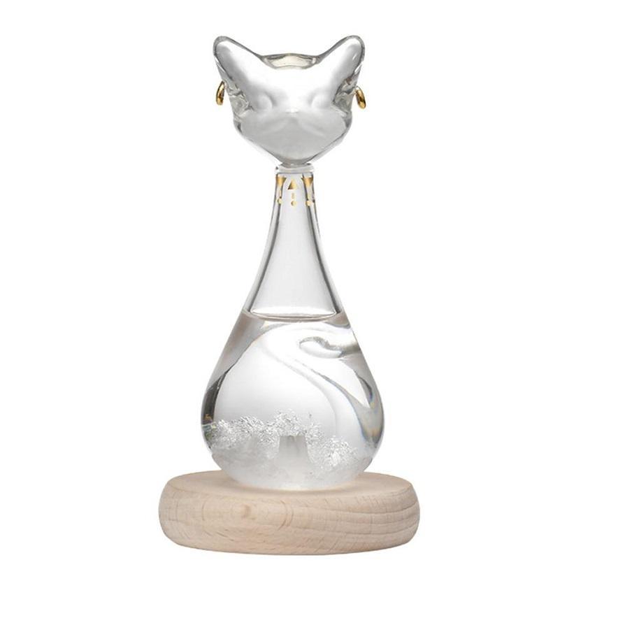 Previsioni del tempo Bottiglia di vetro Tempo Acqua Drop Creative Artigianato Arti Regali Gayer-Anderson Cat dal British Museum Mare Shipping HHA3333