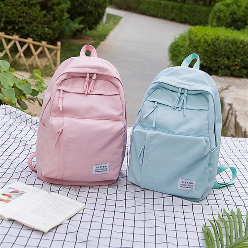 Grande zaino di svago per le ragazze adolescenti borsa rosa Confezione Donne studente di college nylon impermeabile scuola dello zaino Borse teenager Big 2019
