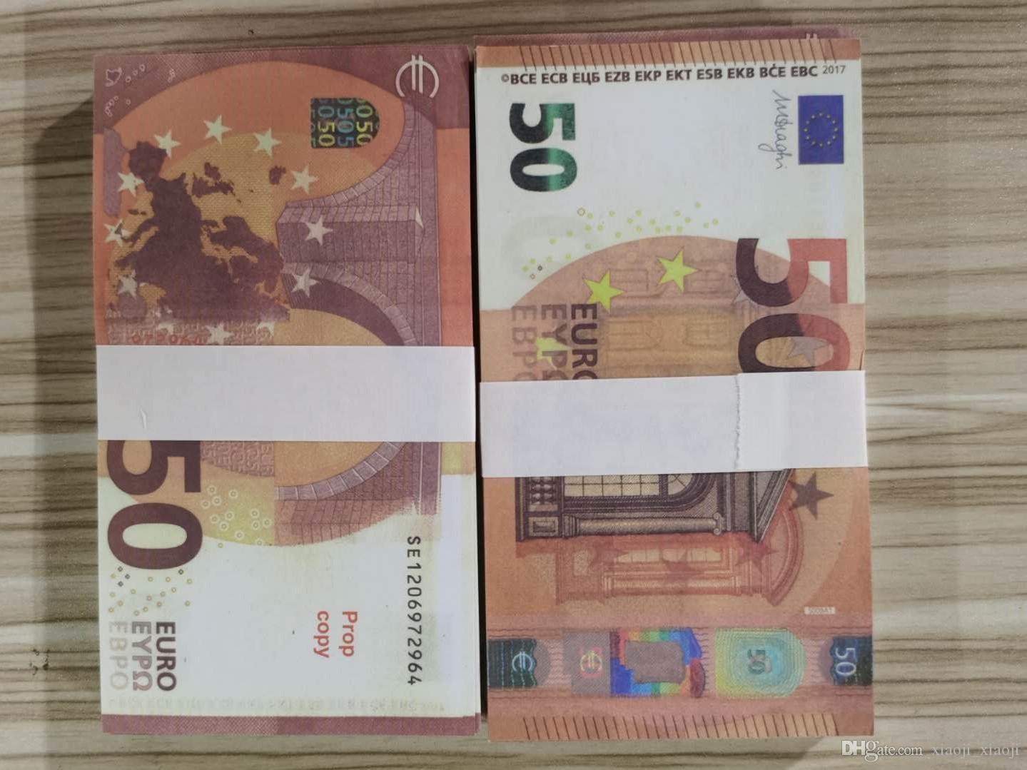 Денежные деньги Банкнота Евро Поддельные USD 100 Играть нормальный Творческий Размер Доллар Банкнота Деньги 00008PROP Подарочный фильм Детский MXPBH