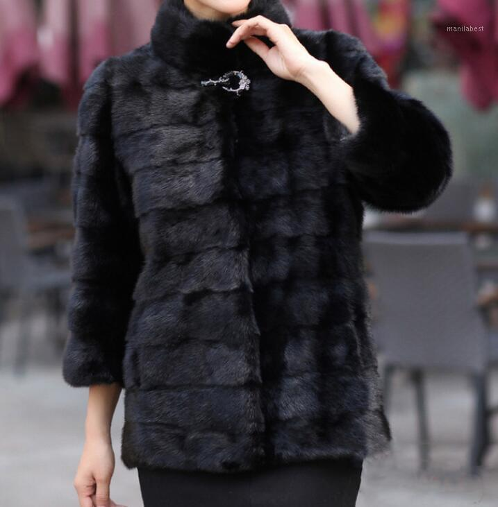 S-6XL Hot 2020 Весенние Женщины Новая Мода Большой Размер Имитационный Мех в длинной корейской версии замшевой куртки1