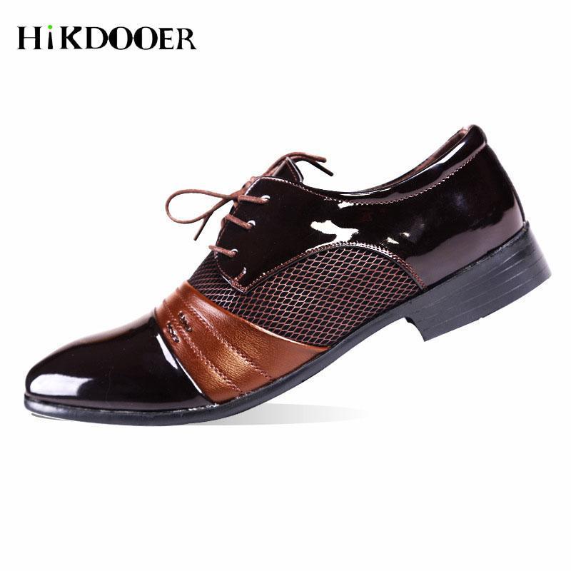 Новое прибытие мужские туфли на шнуровке Свадебная обувь для мужчин Высокое качество Элегантный бизнес-Flat Мужчины Формальная бюро