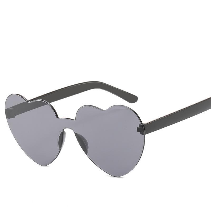 Lunettes de soleil coeur femmes amour cadre transparent lunettes de soleil transparentes teintes vintage vintage UV400 de haute qualité madame mignon décontracté