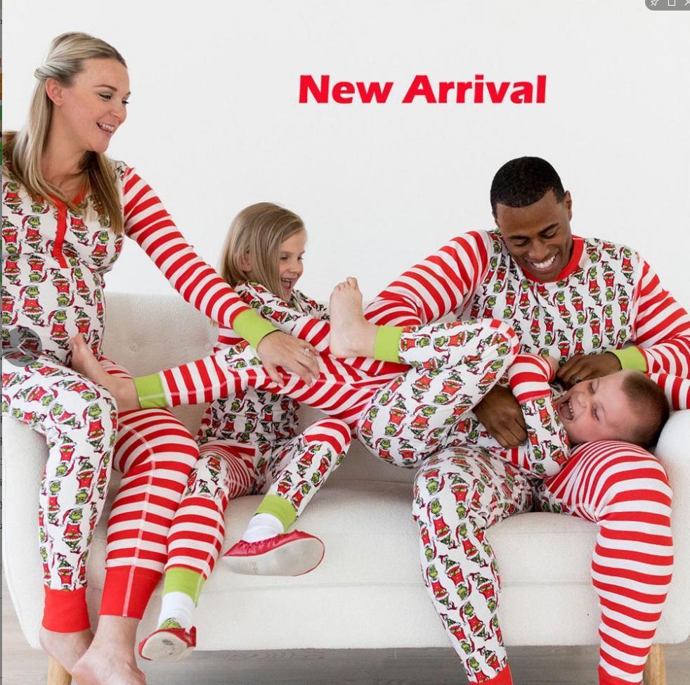El viento de otoño 2020 de Navidad padres e hijos la impresión padres e hijos Inicio Llevar puesto un traje de manga larga vestido de la familia