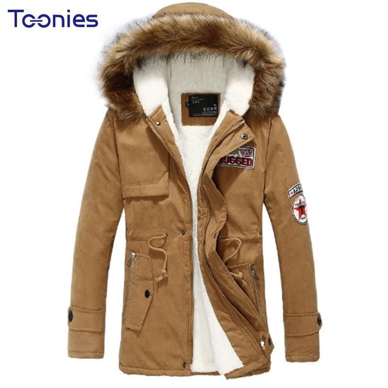 Мужские Parkas 2021 мода с капюшоном зимняя куртка мужчины густые теплые хлопчатобумажные пальто Верхняя одежда Zipper Куртки мужские пальто парки
