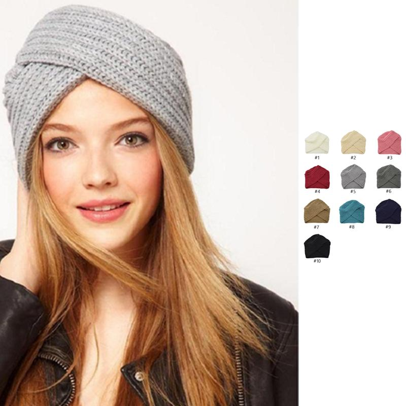 Venta al por mayor libre DHL 10 colores mujeres nuevas modas de punto sombreros de punto ganchillo giro cálido adultos señora gorros sólidos invierno gorras