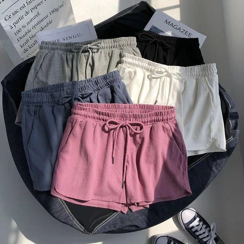2020 Fashion Women Shorts Stretch Vita Stretch Stretch Vita alta Donne Tight Cotton Track Shorts Tempo libero