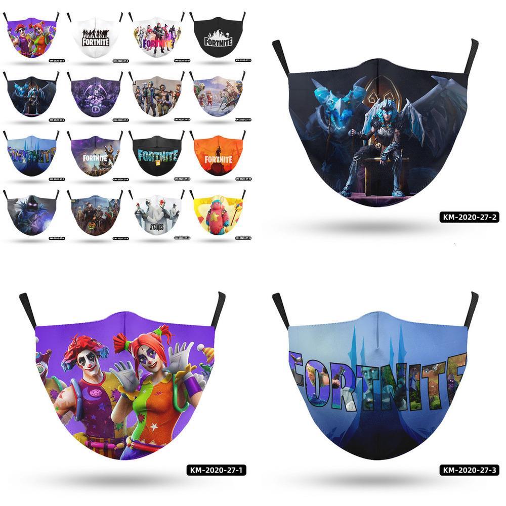 Baskılı Yüz Maskeleri Yetişkin Maske Oyunları Tasarımcı Maskeleri Kullanımlık Yıkanabilir Toz Geçirmez Moda Moda Unisex Erkekler Ağız Maskesi