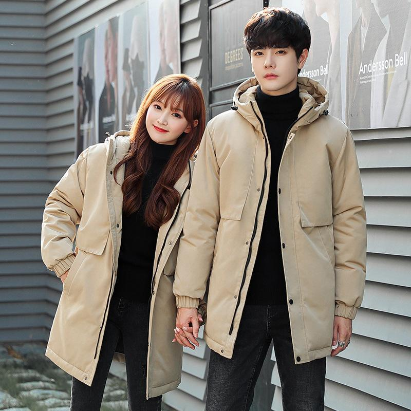 Couple's Down Jacket Men's Thickened Hoodie 2021 Fashion Brand Parke Tooling Couple & Parkas