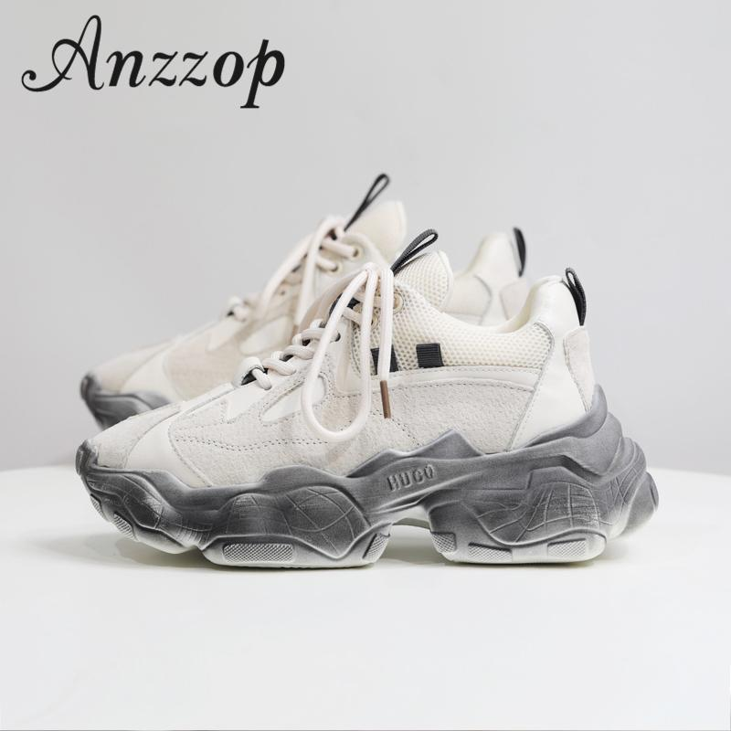 Women's sports old shoes 19 Europe and the United States new spring and autumn fashion casual net red old dirty dirty shoes tide LJ201201