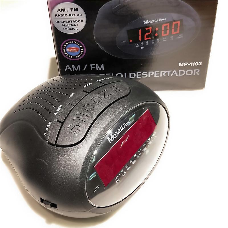 Cadeau 3 FMAM Radio 0.6 pouce LED affichage horloge d'affichage de bureau électronique horloge de bureau numérique Radio Home Office Fournitures de bureau EU