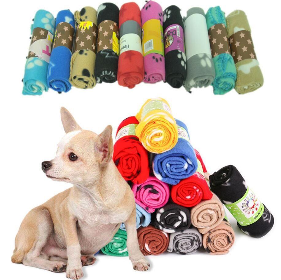 Cobertores macios do buldogue francês do buldogue do velo / inverno esteira de cama do cão do cão de estimação quente para cães Cobertor Cachorrinho Cat Dormir tapetes cobertos