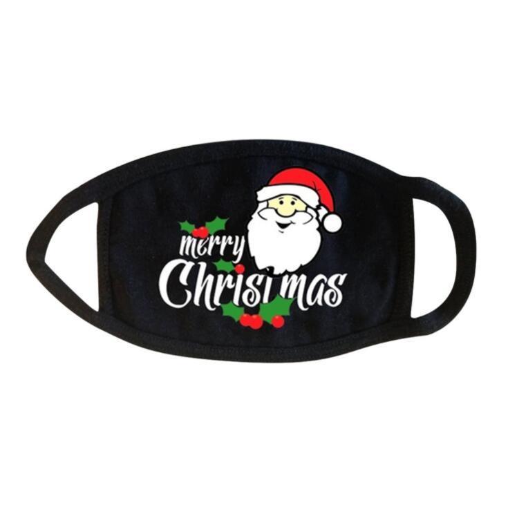 Noël Masque Père Noël flocon de neige Imprimer la bouche Couverture antipoussière respirante Masques Visage de Noël Party Decoration Bouche Couverture 8style GGA3777-4