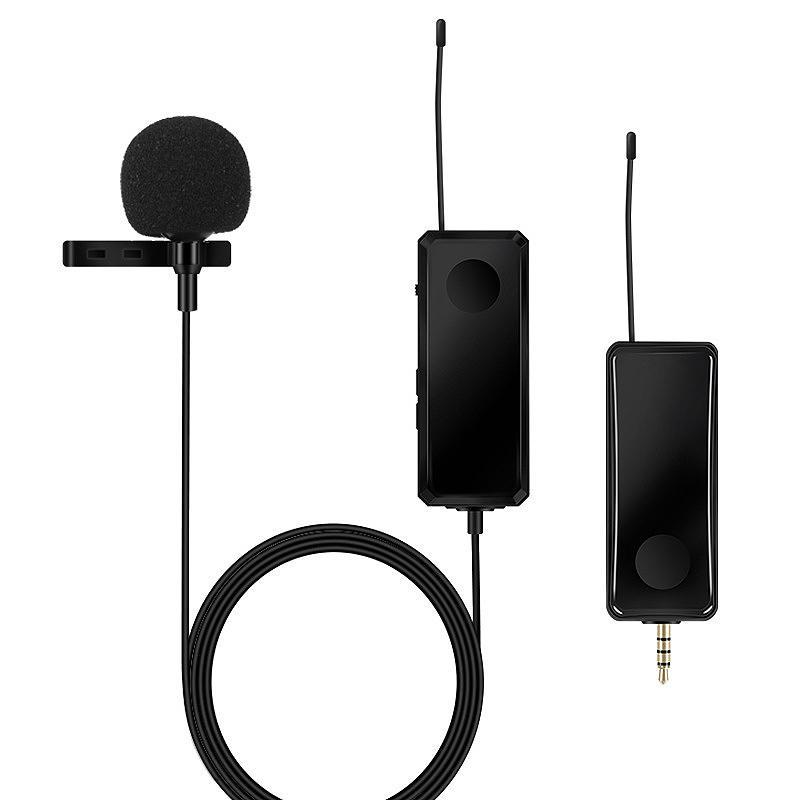 Cep Telefonu Canlı Kayıt SLR Kamera Video Röportaj için tek Lavalier Kablosuz Mikrofon UHF Bir