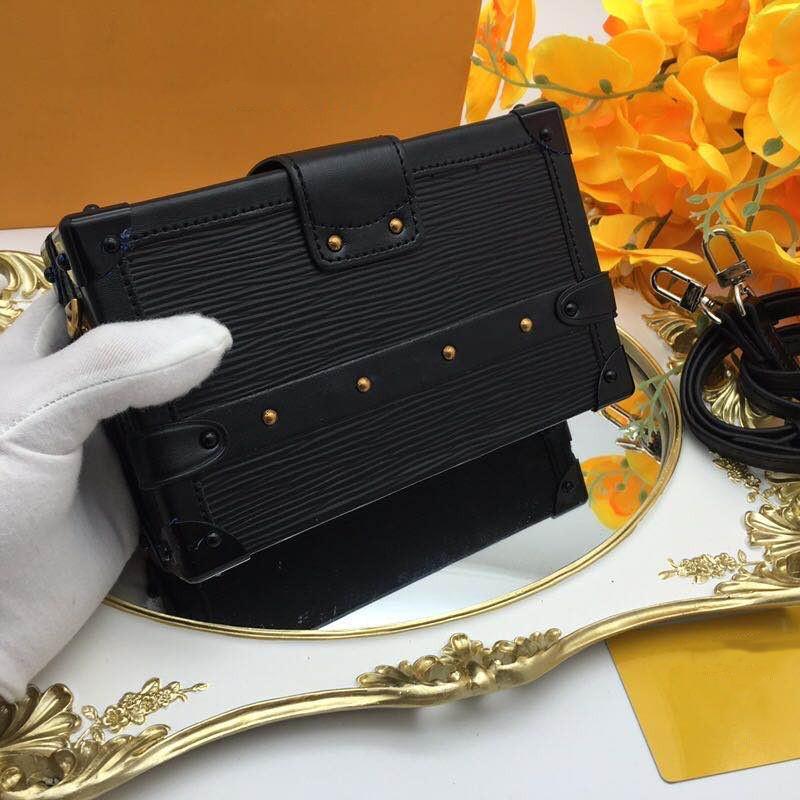 2021 bolsa de festa de luxo bolsa de couro real moda saco de ombro feminino carteira pequena case