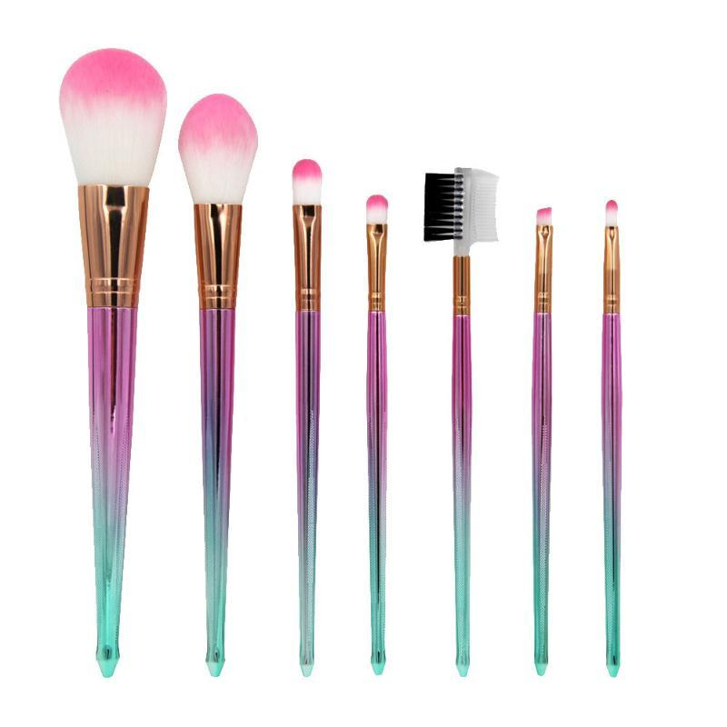 7 Adet Makyaj Fırçalar Seti Göz Farı Fırçası Kozmetik Vakfı harmanlayan Fırça Aracı Makyaj Fırçalar takımları Pinceaux maquillage