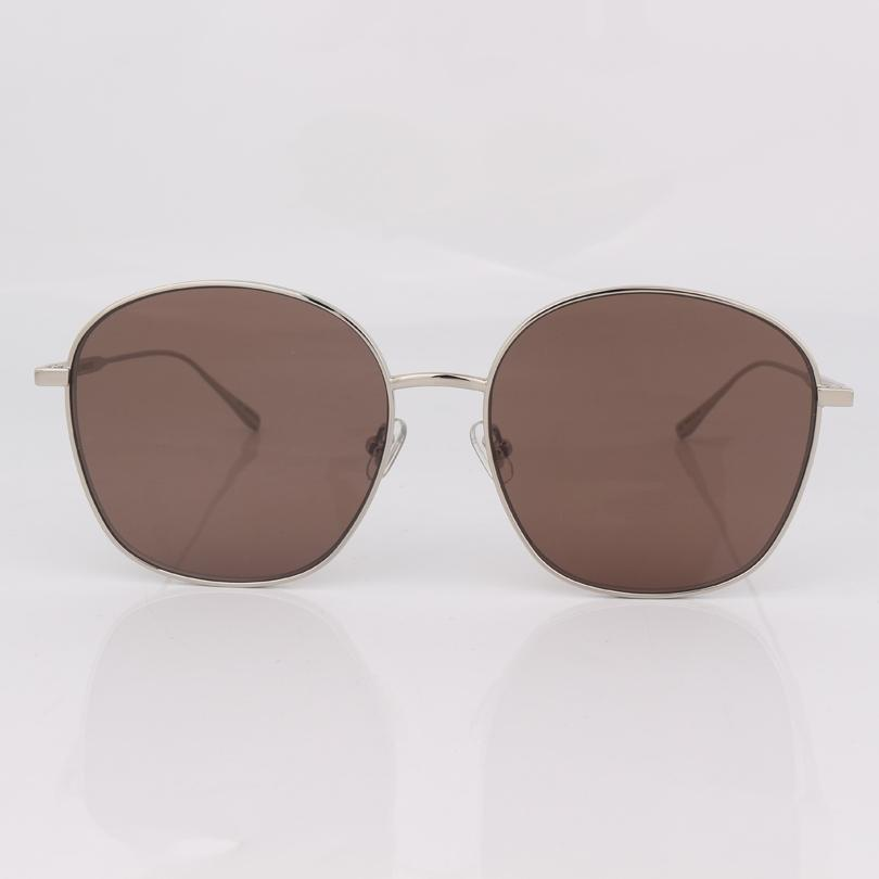 Metal Frame Frame Brown Lente Rodada Óculos De Sol Homens Moda Driving Sunglassee Mulheres Wear