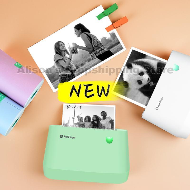 A9 Pro Peripage Photo Printer 80mm 열 포켓 미니 프린터 블루투스 무선 휴대용 레이블 휴대 전화 PC