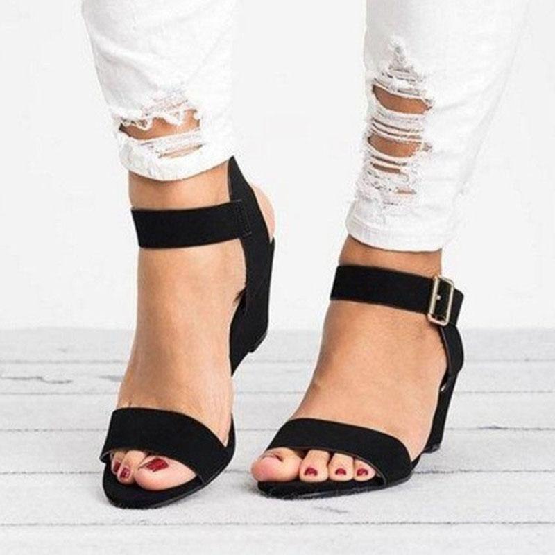 Wedges Shoes For Women Sandals 2020 Summer Shoes Women Wedge Heels Peep Toe Sandalias Mujer Plus Size 35-43 Casual1