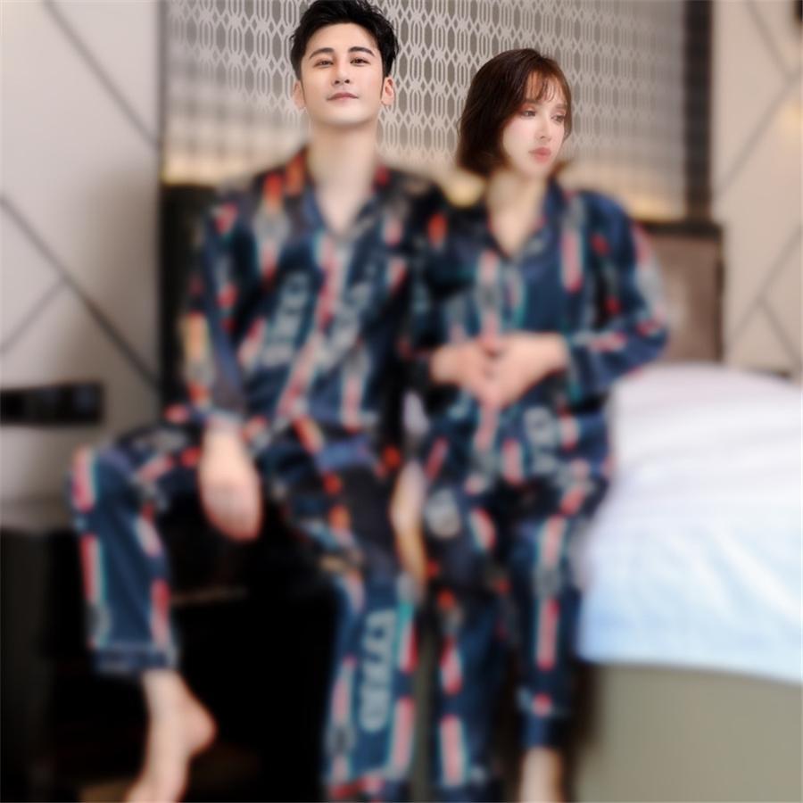BZEL новая осень зимние сочетания 2 1 шт. Наборы для женских хлопка Pajamas разворотный воротник домашняя одежда большого размера Pijama Pajama XXXL 2011 # 43711111