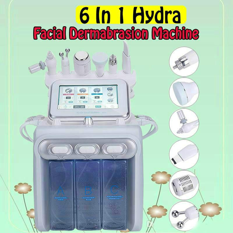 6in1 Soins de la peau hydrafaciale Nettoyant Nettoyant Hydro Peeling H2 02 peau de rajeunissement de la peau Remonter Blackhead Machine de dermabrasion Microdermabr