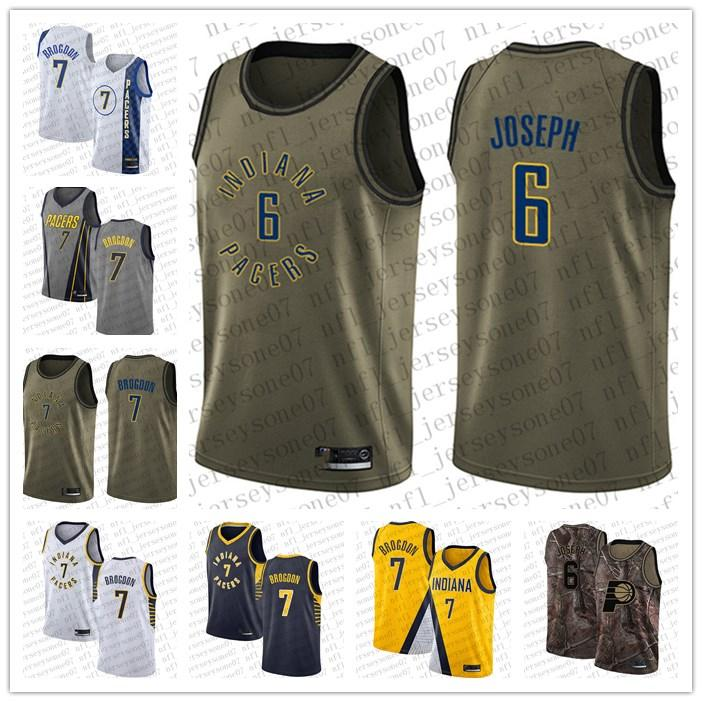 Hommes femmes jeunesse IndianaPacers 6 Cory Joseph 7 Malcolm Brogdon Blanc Blanc Bleu Camo Basketball Swingman Collection Realtree Jersey
