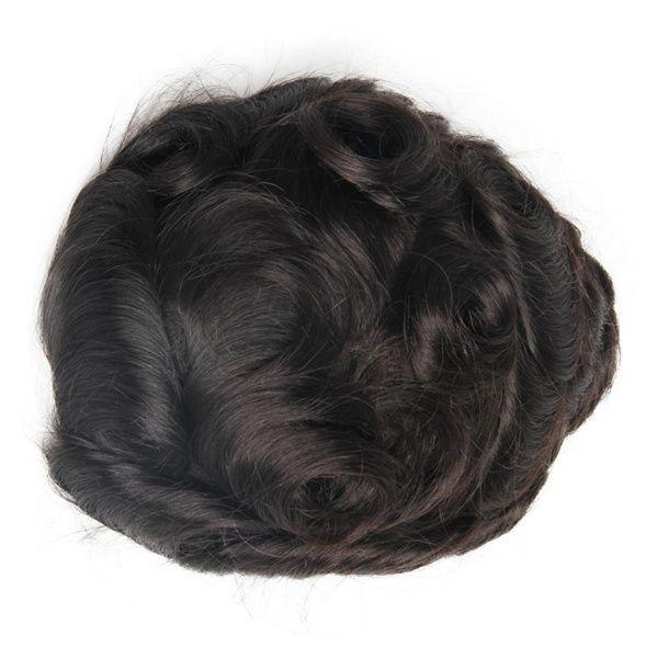 Super Qualität Humanhaar gebleichte Knoten Herren Toupee Dünne Haut Haarteil Haar Ersatzsystem für Männer