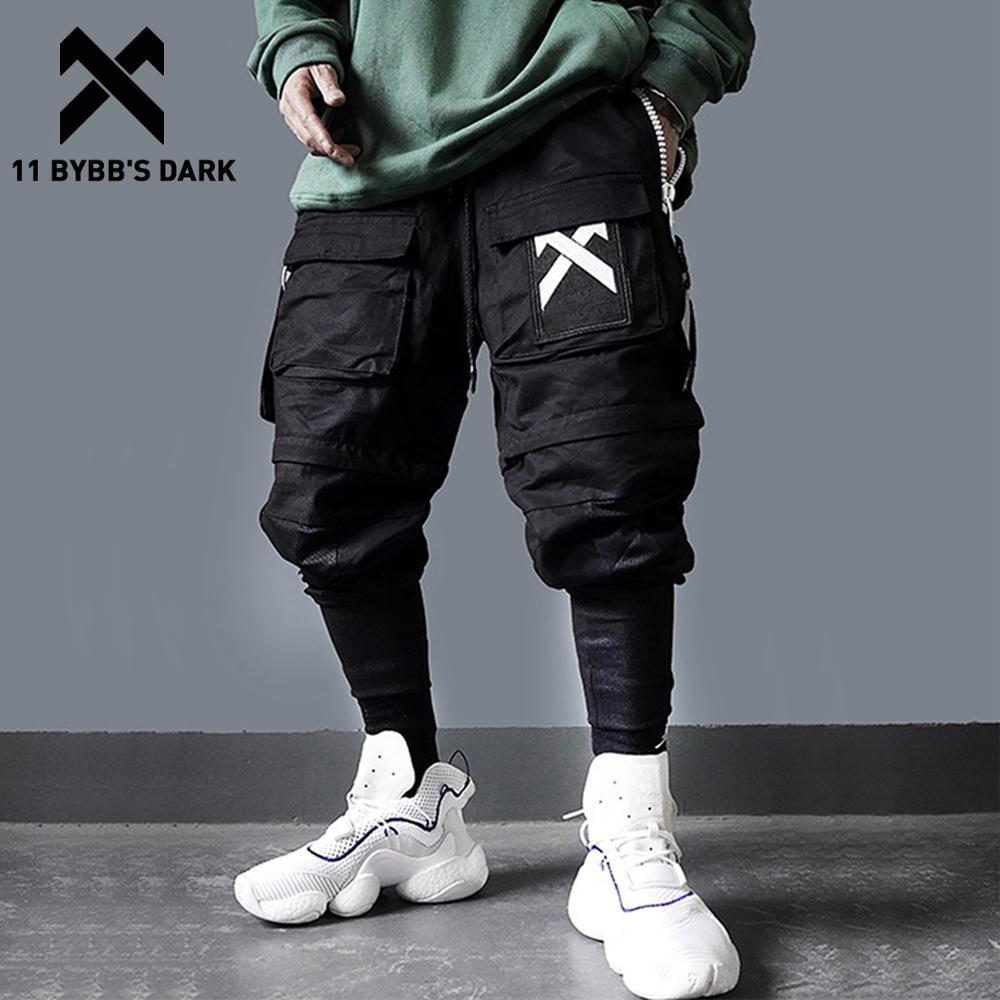 11 ByBB's Dark Dark Dark Pantaloni Multi-Pocket Pantaloni da uomo Harajuku Hip Hop Streetwear Joggers Man Elastic Vita Sweatpants Techwear 201116