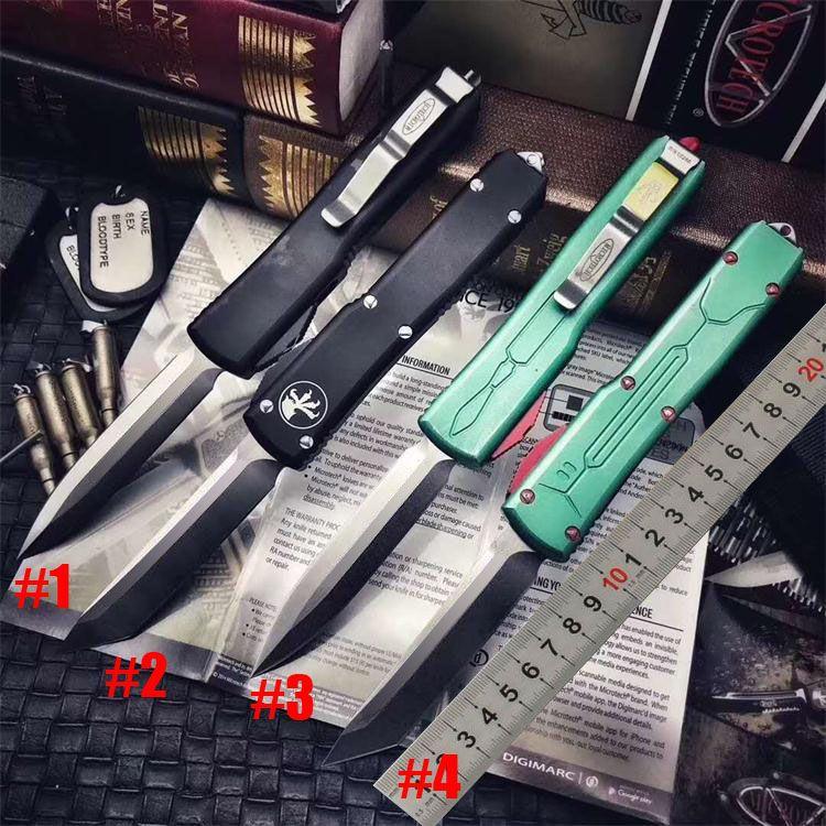 Специальный ! Автоматический Microtech ULTRATECH Bounty Hunter Автоматического ножей UT85 UTX85 UTX70 VG10 лезвие Halo V Открытого кемпинг 6 Ножей