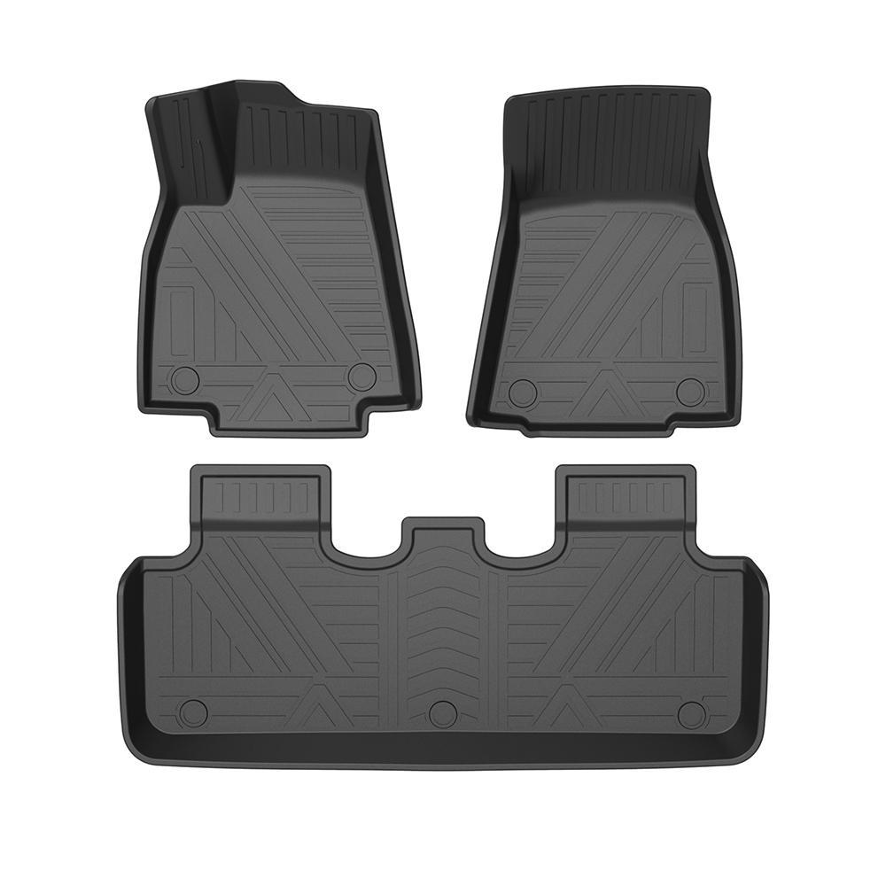 Para Tesla Modelo Y 2020 Auto Car Stop Sops All-Tiempo TPE Mats Pie Oldors Pad Oldors Pad Impermeable Tray Tray Mat Interior Accesorios
