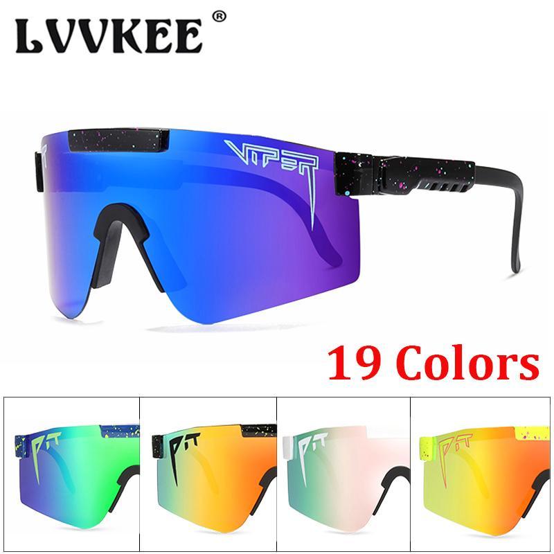 2020 Viper Eyewear TR90 Cadre Pit Flat Bleu 1006 Lentille miroir pour Sport Eductionnelle Polarisée / Fashion Man Lunettes de soleil Femme UV400 Top Kswgb