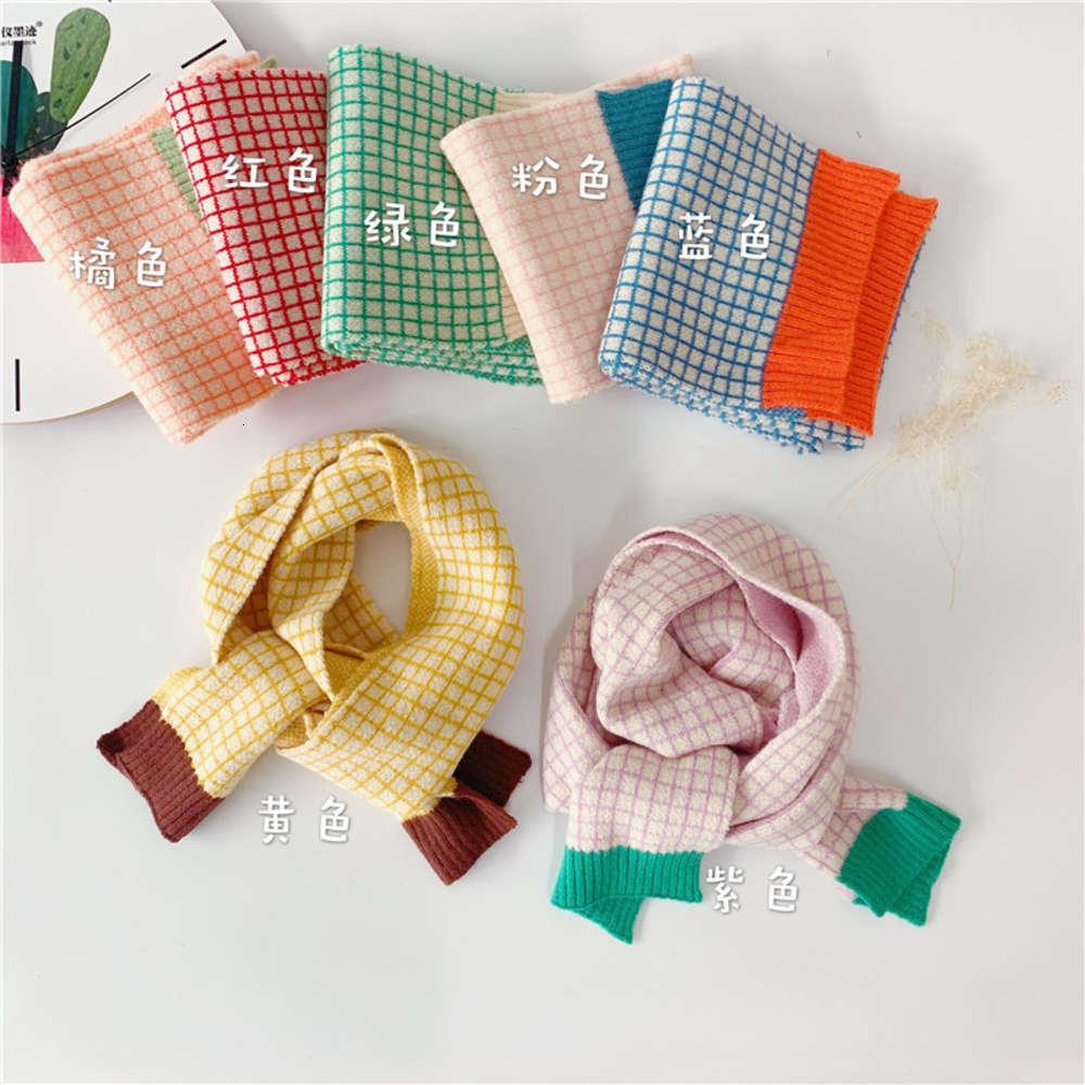 Корейская плед детская вязаная версия мода носить шарф зима