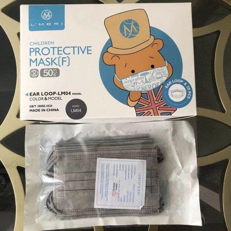 Maskeler Çocuk Toz 3-Kat Yüz Kapak Toz Maskeleri Tek Kullanımlık Katman 3 Ağız Dokunmamış Tek Kullanımlık Yumuşak Çocuk Maskesi Kulak Döngü Breathaza Nrvux