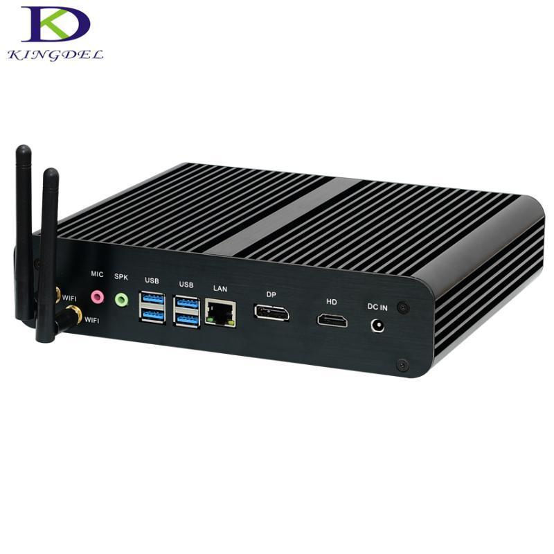 مصغرة PCS Kingdel PC الجيل السادس وحدة المعالجة المركزية Core 6600U 6500U Intel Nuc بدون مروحة نظام التشغيل Windows 10 سطح المكتب Barebone TV Box DP