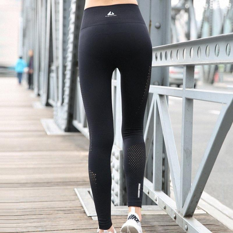 BINAND Women Side Hollow High Rise Tights Sports Pants Quick Dry Push Up Compression Training Jogging Fitness Gym Yoga Leggings Y20052 l4s8#