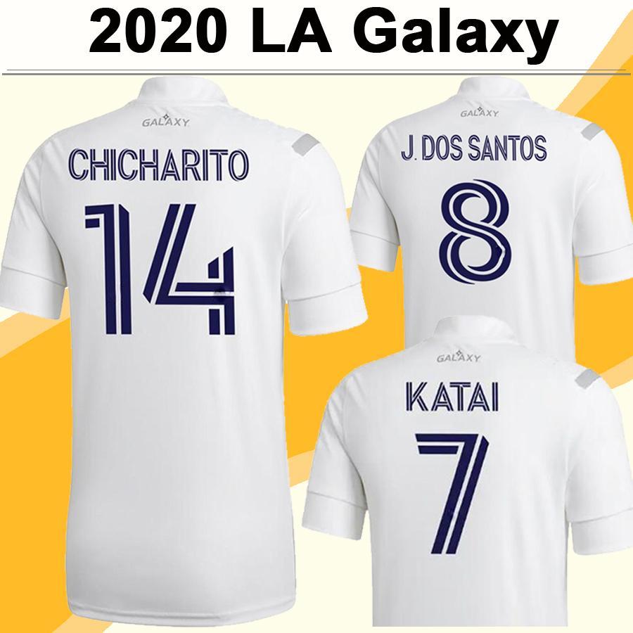 20 21 LA Galaxy CHICHARITO Mens Soccer Jerseys New J. DOS SANTOS Home White 2019 Away Bule Football Shirt HERNANDEZ Short Sleeve Uniforms