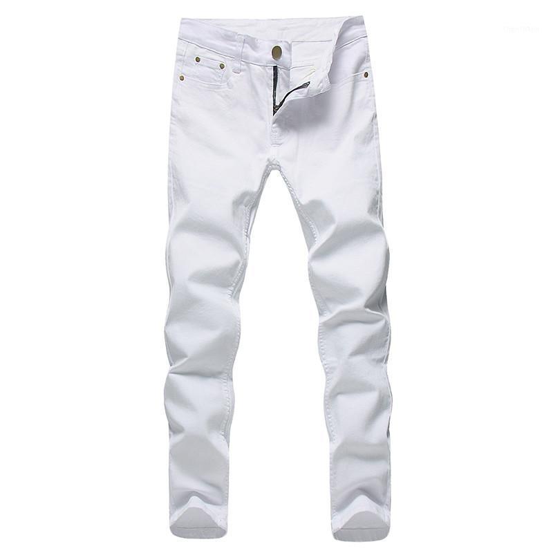 2018 uomini stretch jeans moda bianco pantaloni da jeans per molla maschile e autunno retrò pantaloni casual jeans da uomo taglia 27-361