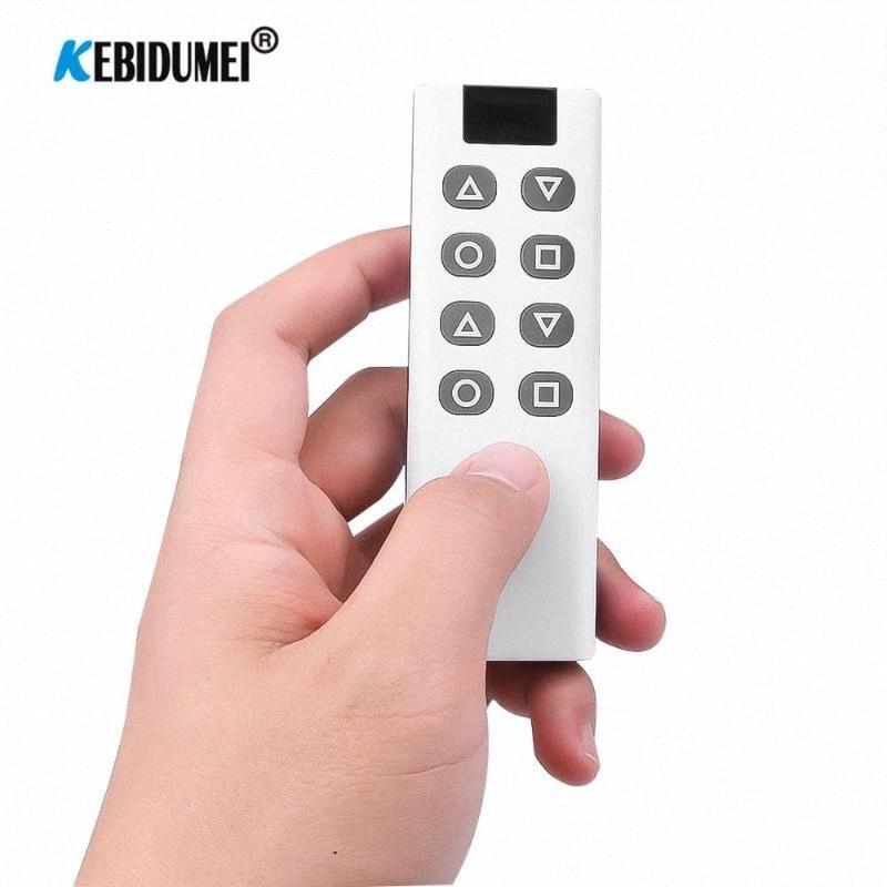 8 Botón 1000m RF control remoto inalámbrico 433 MHz Puerta automática Puerta de garaje de control remoto controlador de la llave Fob XVzJ coche #